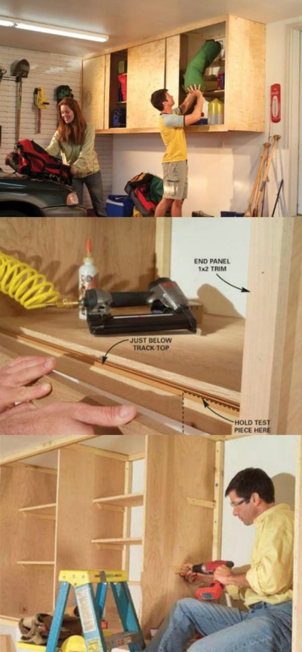 Install Cabinets - 49 Brilliant Garage Organization Tips, Ideas and DIY Projects