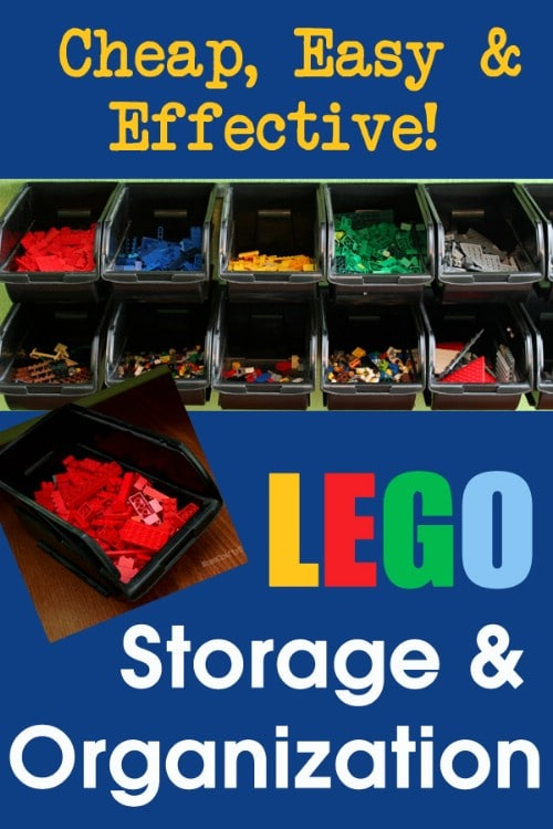 Plastic Bin Lego Storage - 150 Dollar Store Organizing Ideas and Projects for the Entire Home