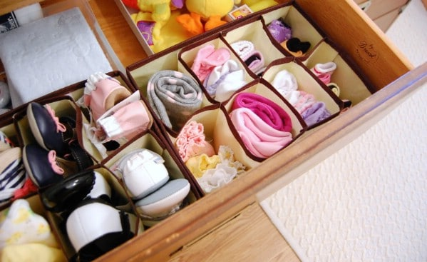Organizing Dresser Drawers - 150 Dollar Store Organizing Ideas and Projects for the Entire Home