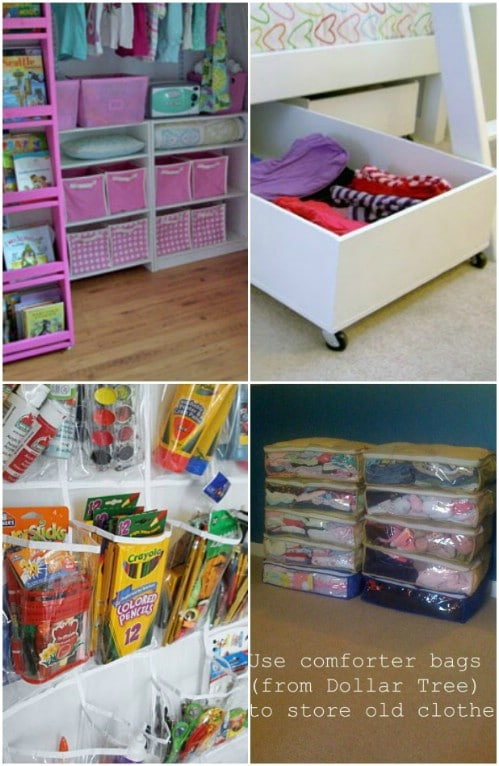 150 Dollar Store Organizing Ideas And Projects For The: cheap home storage ideas
