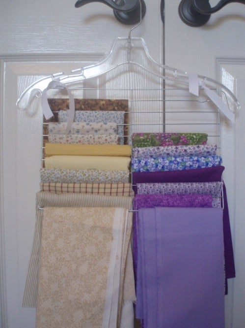Fabric Organization that Hangs - 150 Dollar Store Organizing Ideas and Projects for the Entire Home