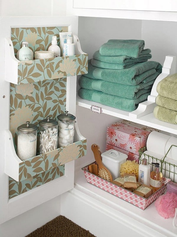 Organize This: Linens! - 30 Brilliant Bathroom Organization and Storage DIY Solutions