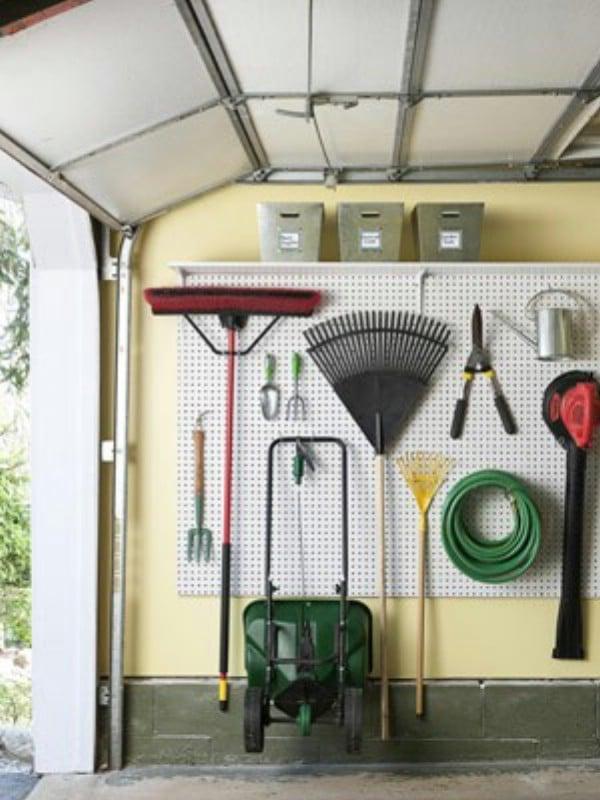 Use A Pegboard To Make Space   49 Brilliant Garage Organization Tips, Ideas  And DIY