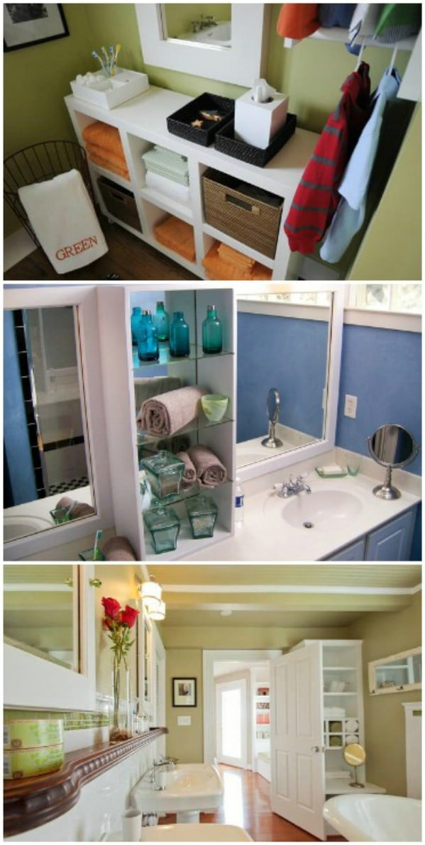 Small Bathroom Storage Solutions - 30 Brilliant Bathroom Organization and Storage DIY Solutions