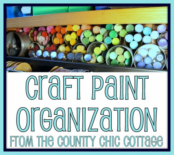 Organizing Craft Supplies With Recycled Cans