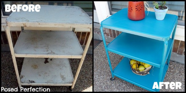 Vintage Metal Cart Makeover - Top 60 Furniture Makeover DIY Projects and Negotiation Secrets