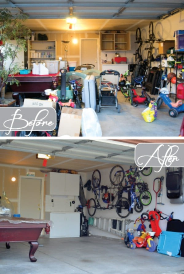 Hang Bikes on Walls - 49 Brilliant Garage Organization Tips, Ideas and DIY Projects