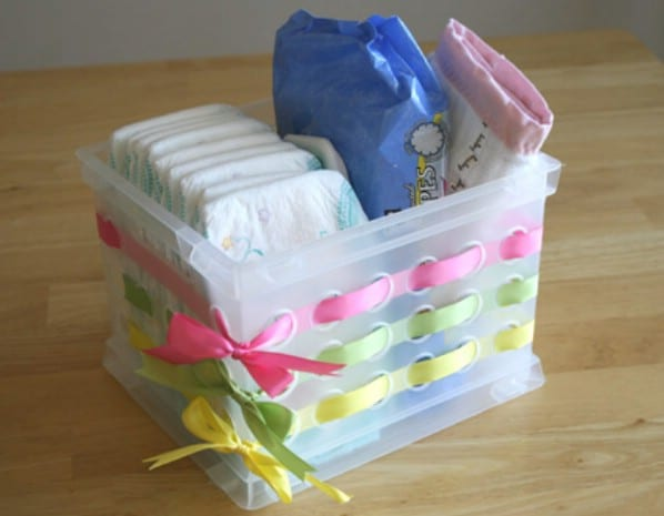 Decorate Plastic Baskets for Attractive Storage - 150 Dollar Store Organizing Ideas and Projects for the Entire Home