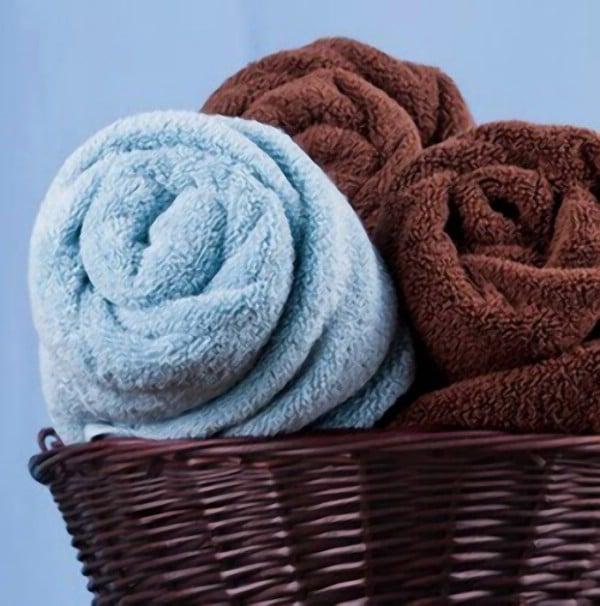 Storing Bath Towels - 30 Brilliant Bathroom Organization and Storage DIY Solutions