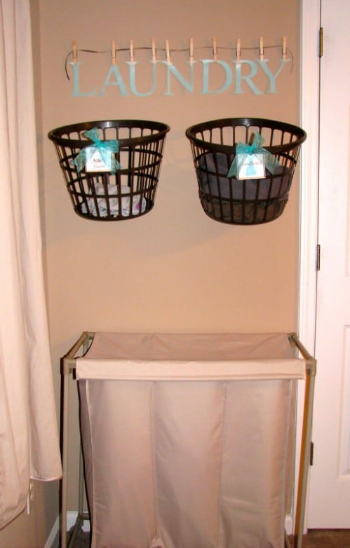 Hanging Laundry Baskets Save Time