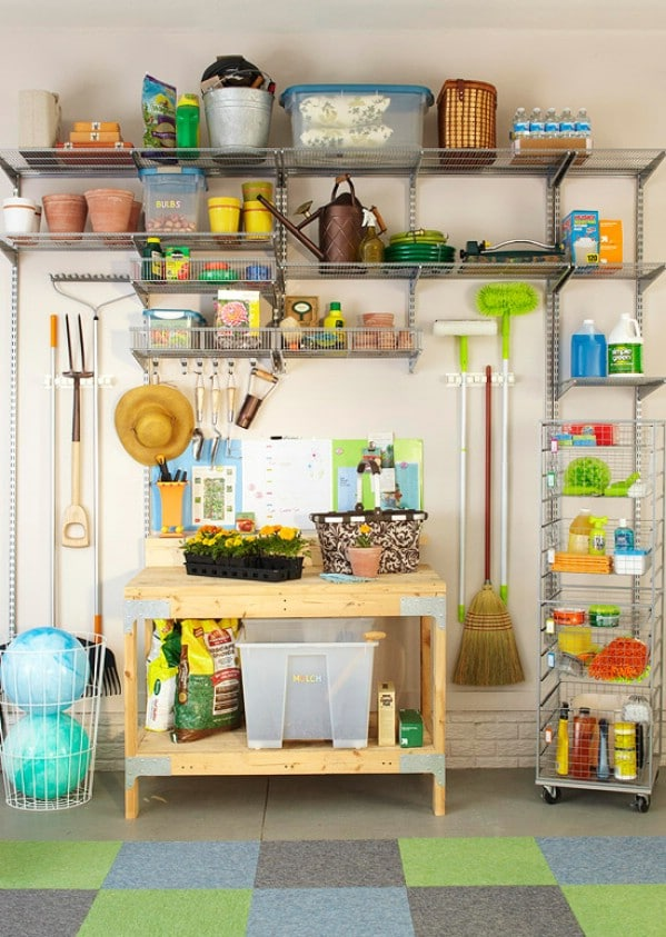 Create a Garden Center - 49 Brilliant Garage Organization Tips, Ideas and DIY Projects