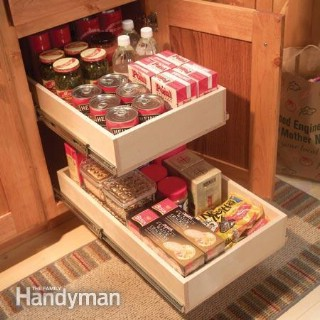 Organize Kitchen Storage With Kitchen Cabinet Rollouts - 60+ Innovative Kitchen Organization and Storage DIY Projects