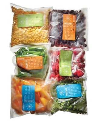 Freezer Storage Labels - 60+ Innovative Kitchen Organization and Storage DIY Projects