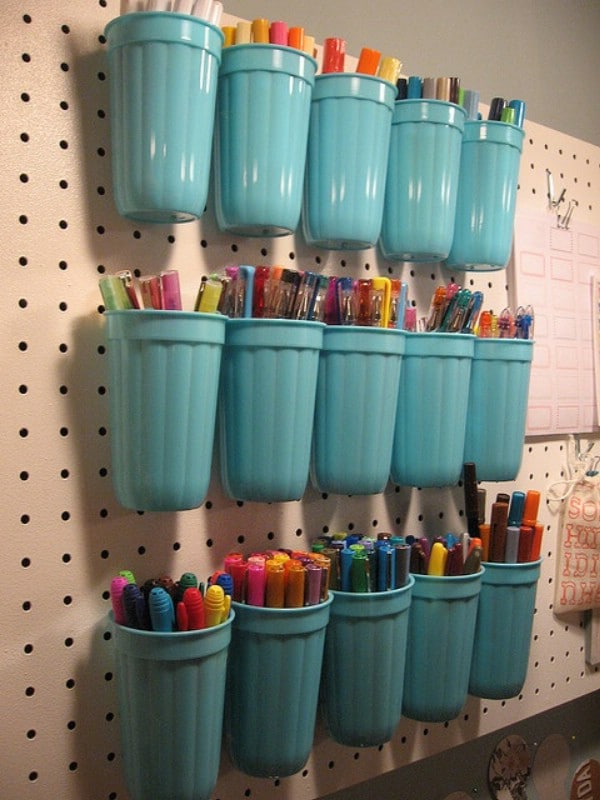 49 brilliant garage organization tips ideas and diy projects page plastic cups on a pegboard 49 brilliant garage organization tips ideas and diy projects publicscrutiny Images