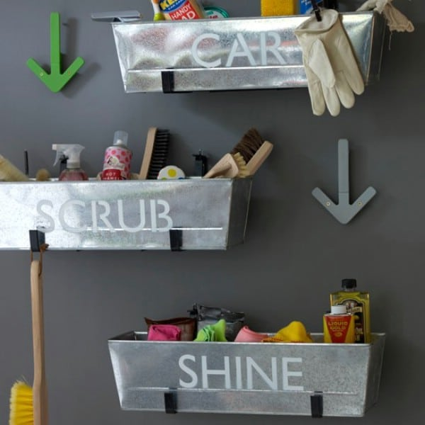 Label Metal Planters for Storage - 49 Brilliant Garage Organization Tips, Ideas and DIY Projects