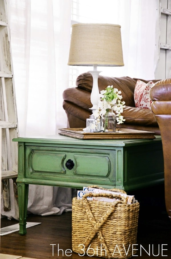 Greenlicious End Table Tutorial - Top 60 Furniture Makeover DIY Projects and Negotiation Secrets