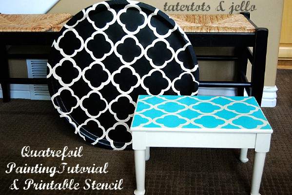Jen's Quatrefoil Paint Project(s) & Free Printable Stencil - Top 60 Furniture Makeover DIY Projects and Negotiation Secrets