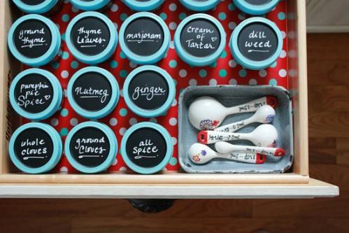 Spicy Spice Storage - 60+ Innovative Kitchen Organization and Storage DIY Projects