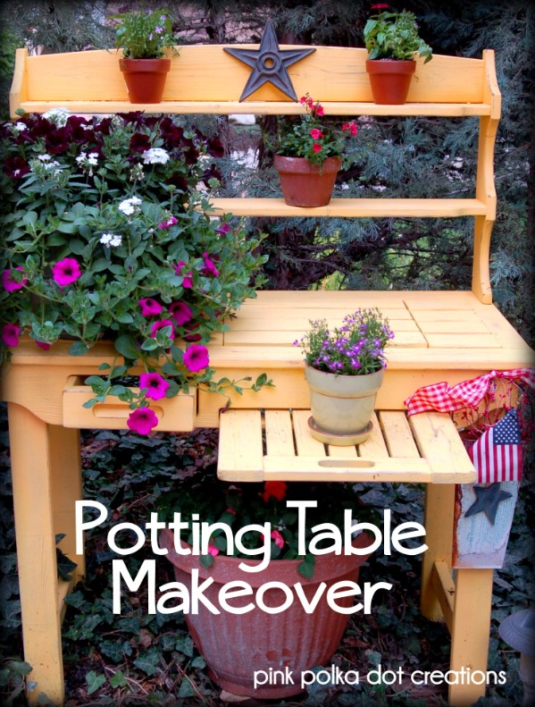 Potting Table Makeover - Top 60 Furniture Makeover DIY Projects and Negotiation Secrets