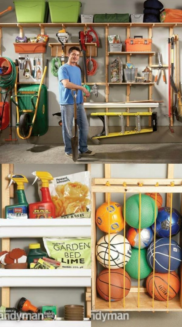 Organization Ideas For Garage Part - 38: Utilize Wall Space For Storage - 49 Brilliant Garage Organization Tips,  Ideas And DIY Projects