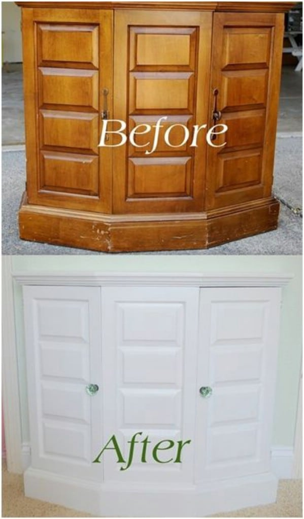 DIY: Painted Thrift Store Cabinet - Top 60 Furniture Makeover DIY Projects and Negotiation Secrets