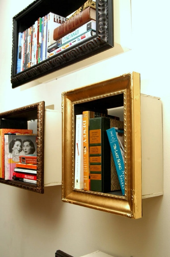 Lovely DIY picture frame shelves - Top 60 Furniture Makeover DIY Projects and Negotiation Secrets