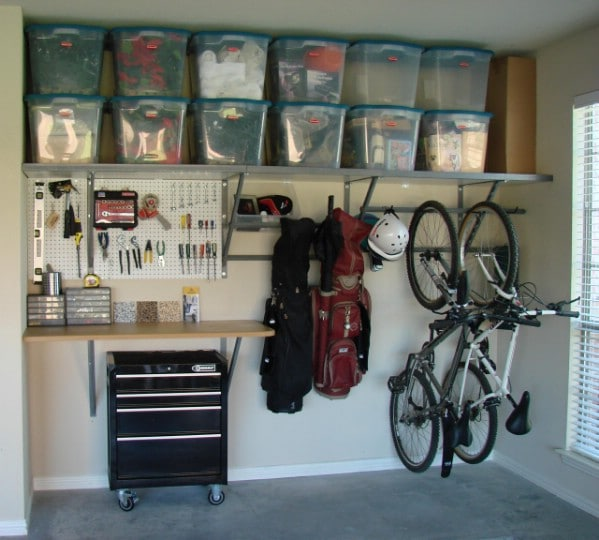 49 Brilliant Garage Organization Tips, Ideas and DIY Projects - DIY on clean my garage, remodel my garage, super organize your garage, organizing my garage, ways to organize a garage,