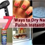 DIY Beauty Tricks – 5 Ways to Dry Nail Polish Instantly