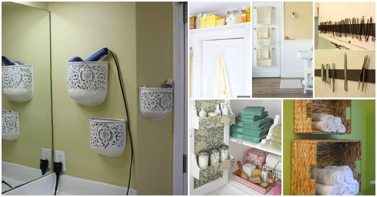 30 Brilliant Bathroom Organization and Storage DIY Solutions - DIY
