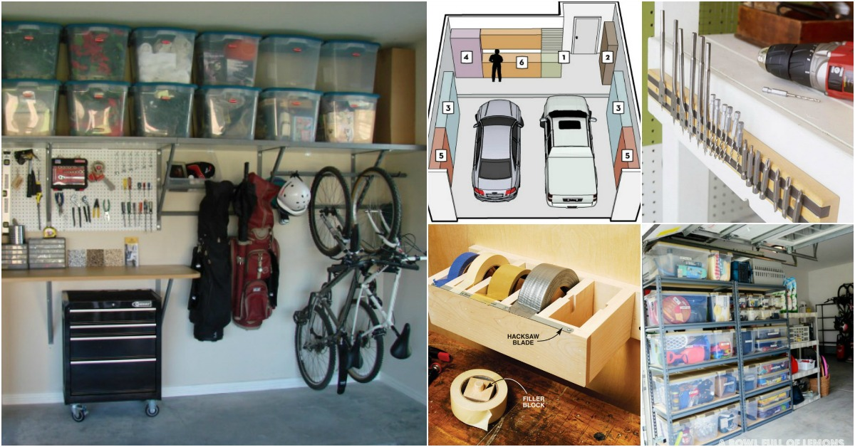 49 brilliant garage organization tips ideas and diy for Diy 3 car garage