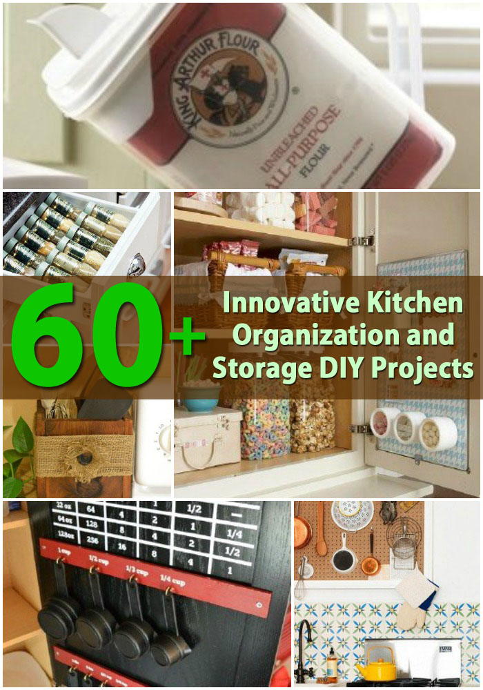 60 innovative kitchen organization and storage diy for Diy organization crafts