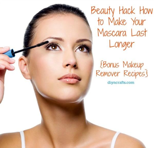 How to Make Your Mascara Last Longer + Bonus Makeup Remover Recipe