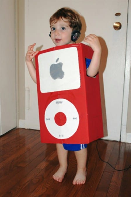 iPod - 60 Fun and Easy DIY Halloween Costumes Your Kids Will Love