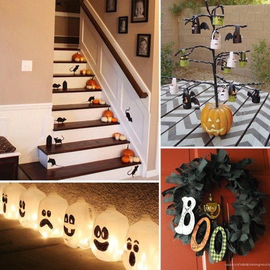 spooky interior 40 easy to make diy halloween decor ideas - Homemade Halloween Decorations Ideas