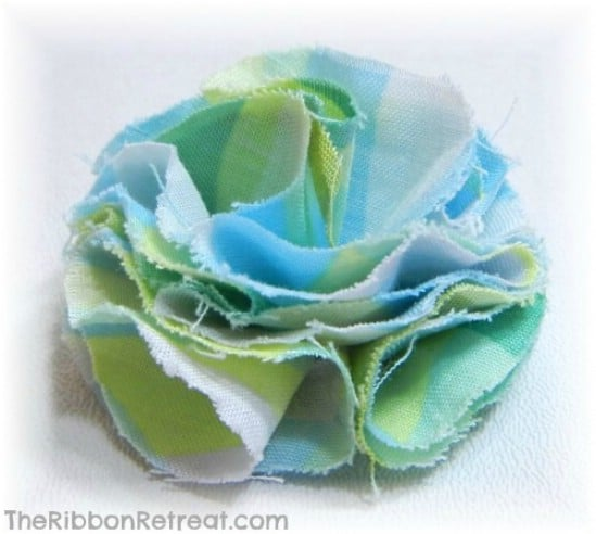 Fabric and Felt Flower Bow - 30 Fabulous and Easy to Make DIY Hair Bows
