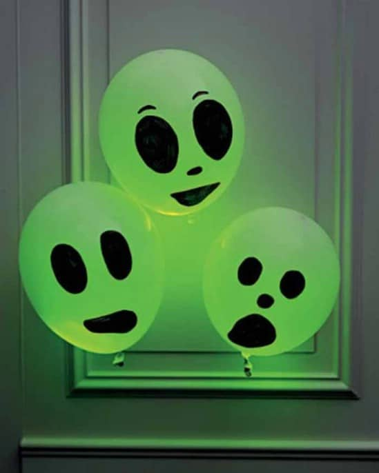 Glowing Ghouls - 40 Easy to Make DIY Halloween Decor Ideas