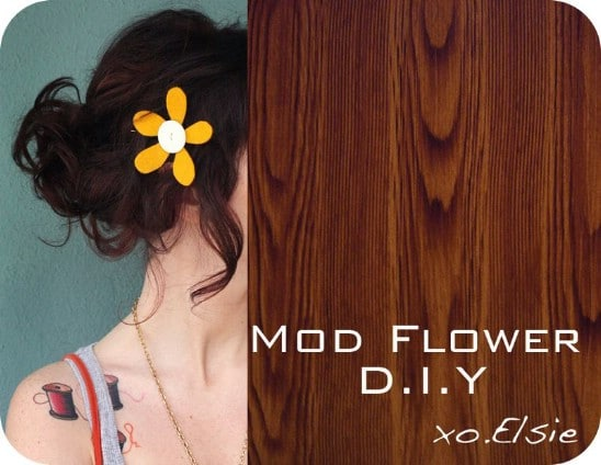 Flower Power Bow - 30 Fabulous and Easy to Make DIY Hair Bows