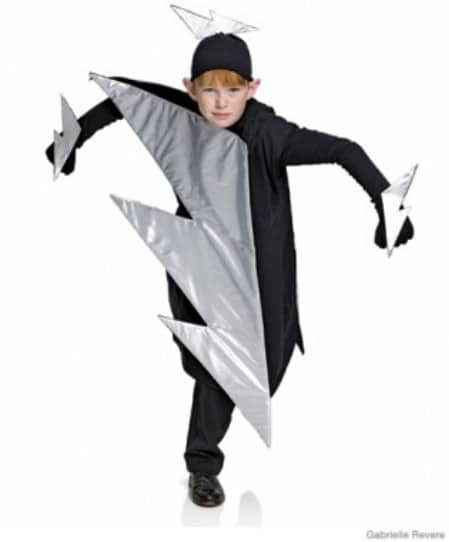 Lightning Bolt - 60 Fun and Easy DIY Halloween Costumes Your Kids Will Love