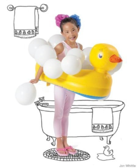 Bubble Bath - 60 Fun and Easy DIY Halloween Costumes Your Kids Will Love