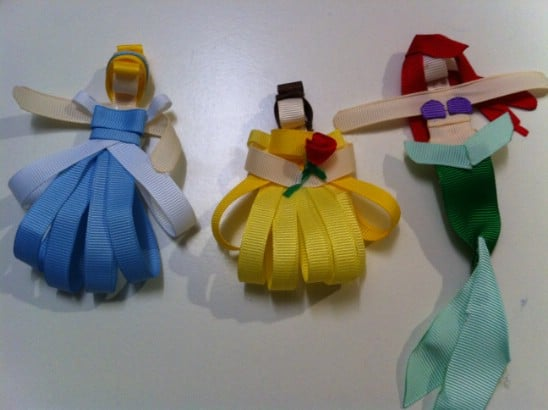 Disney Princess Ribbon Bows - 30 Fabulous and Easy to Make DIY Hair Bows