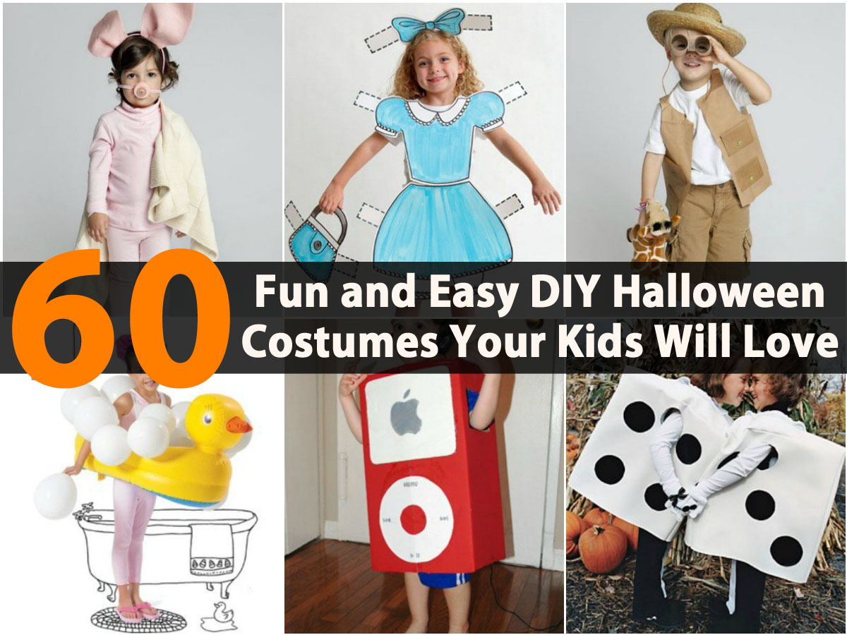 60 fun and easy diy halloween costumes your kids will love for Fun and easy diys
