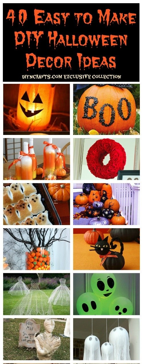 40 easy to make diy halloween decor ideas - Halloween Decorations For Kids To Make