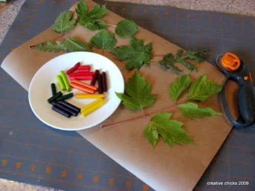 Leaf Rubbings - 15 Fabulous Fall Leaf Crafts for Kids