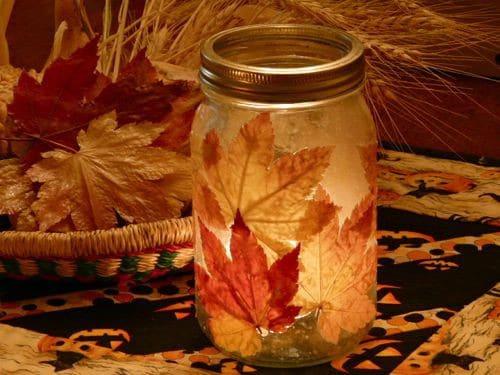Source U2013 Creativepartyideasbycheryl Leaf Lanterns   15 Fabulous Fall Leaf  Crafts For Kids Design Ideas