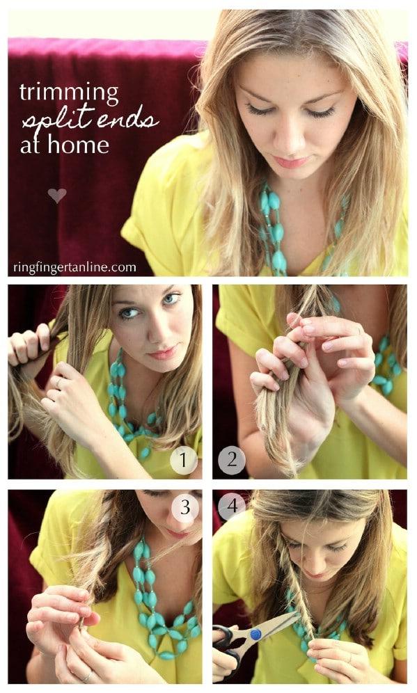 Easy Method for Getting Rid of Split Ends - 40 DIY Beauty Hacks That Are Borderline Genius