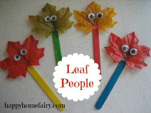 Source Happyhomefairy Leaf Puppets