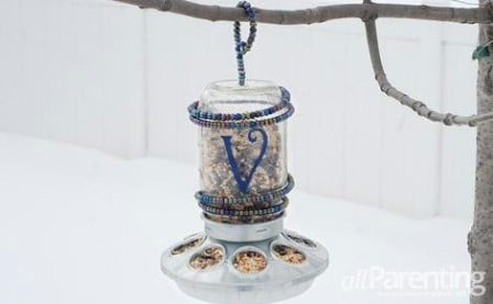 Monogramed Jar Feeder - 23 DIY Birdfeeders That Will Fill Your Garden With Birds