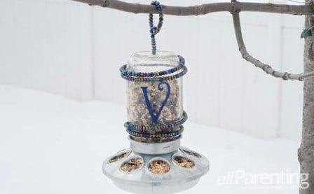 Monogramed Jar Feeder - 23 DIY Birdfeeders That Will Fill Your Garden With Birds