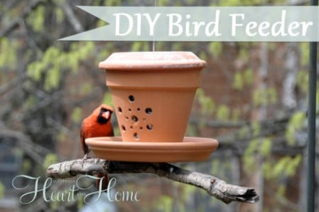 Flower Pot Birdfeeder - 23 DIY Birdfeeders That Will Fill Your Garden With Birds