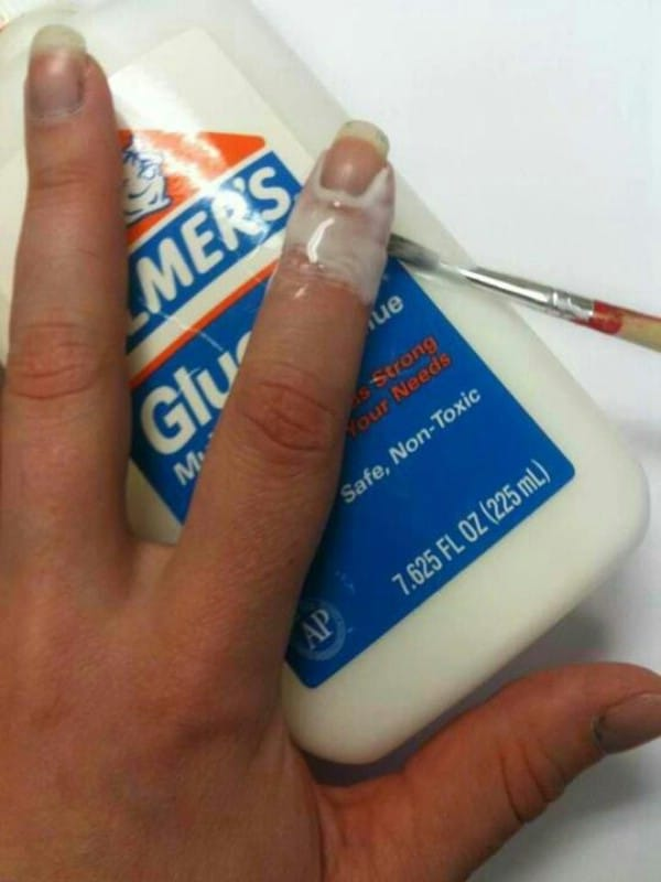 40 diy beauty hacks that are borderline genius page 4 of 5 diy via pinterest elmers glue for the perfect manicure 40 diy beauty hacks that are borderline genius solutioingenieria Choice Image